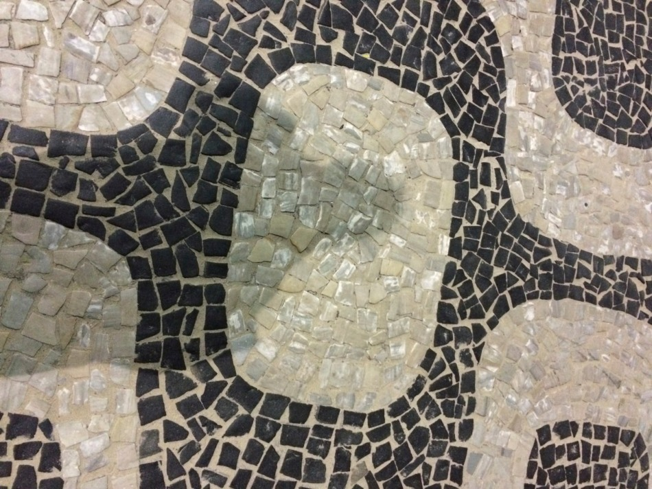 Tessellation shown in this pavement mosaic from Rio de Janiero, Brazil.