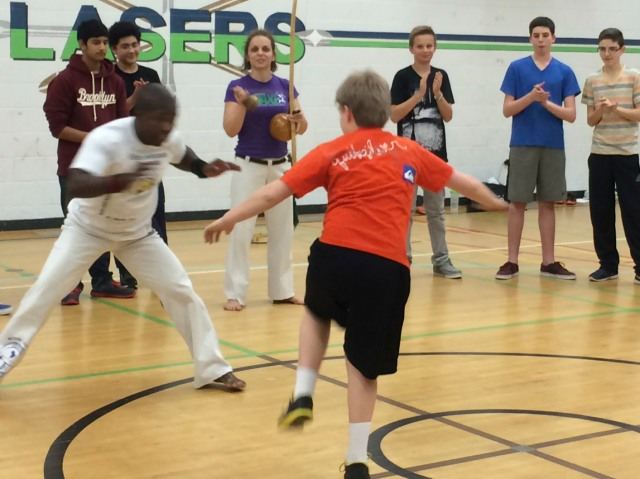 Capoeira experience for Grade 9 students.