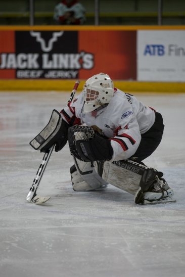 Cariboo Cougars goalie, Griffen Outhouse © J. Ashley Nixon