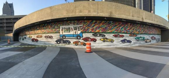 Street art: cars in Detroit © J. Ashley Nixon
