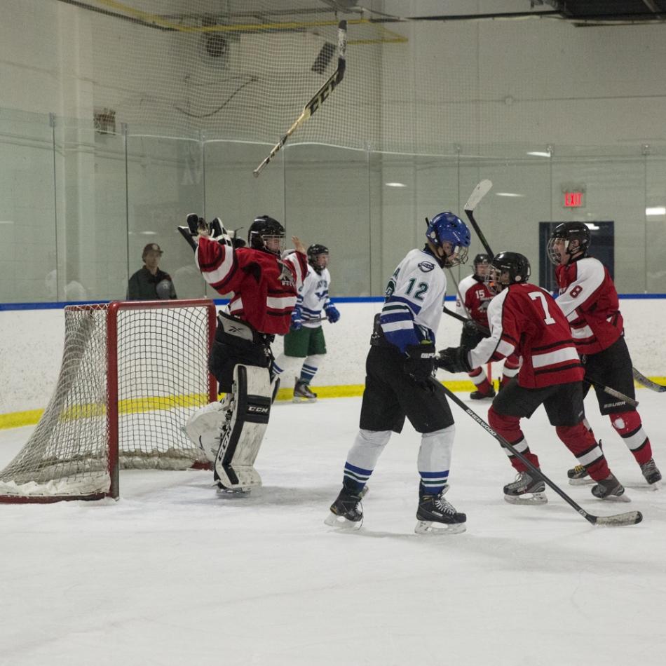 Trails West Wolves Midget hockey team celebrate their Calgary City Championship win © J. Ashley Nixon