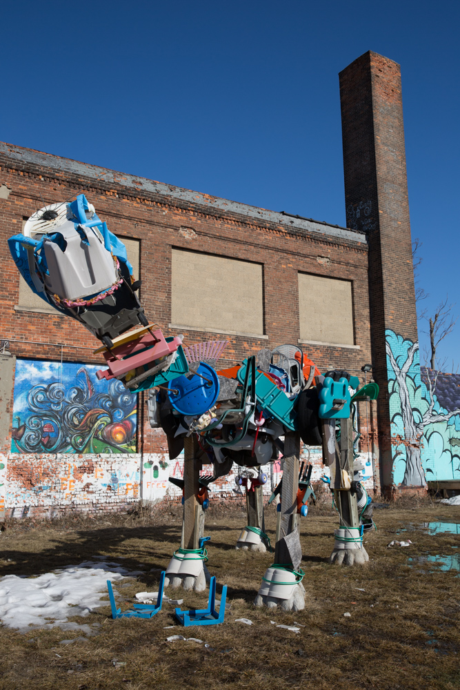 Frank the Dino, Lincoln Street Art Park, Detroit. Photograph: © J. Ashley Nixon