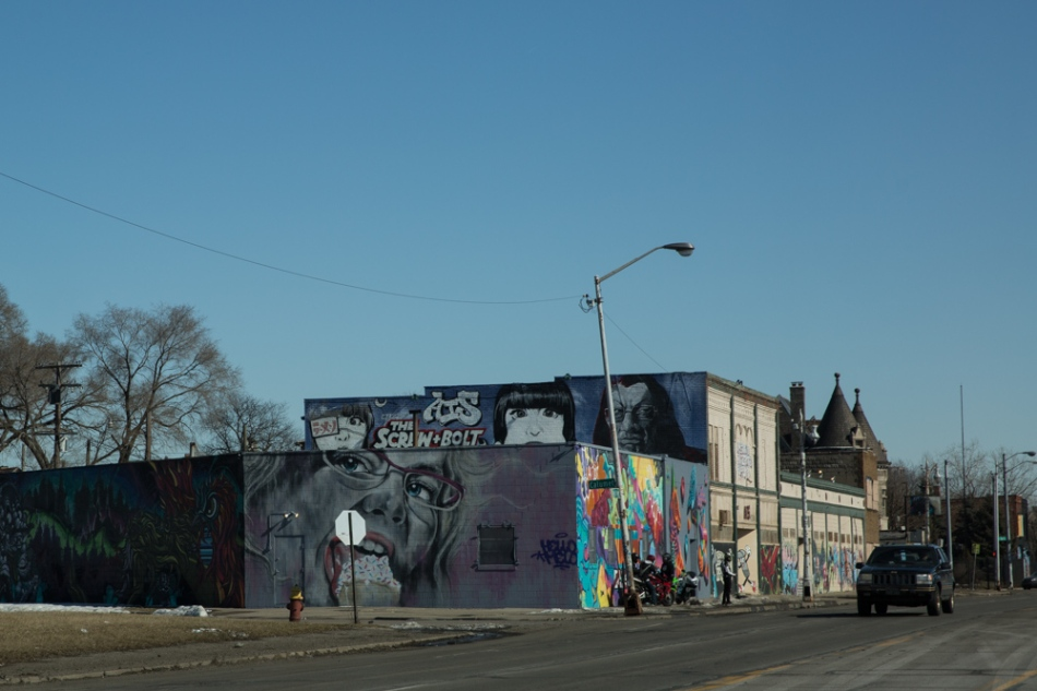 Mural by HelloMelo, Grand River Creative Corridor, Detroit Photograph: © J. Ashley Nixon