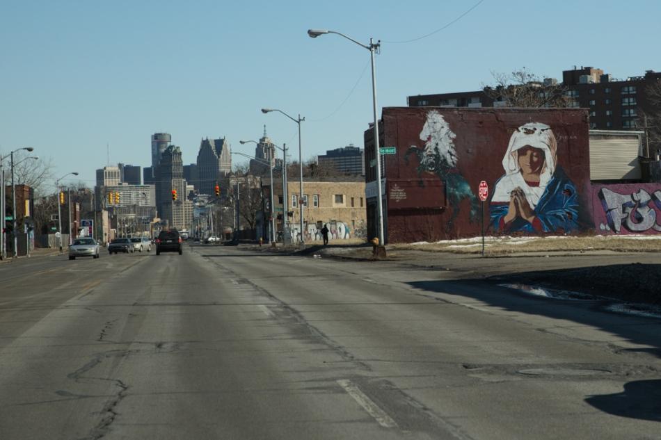 Mural by Dustin Spignola, Grand River Creative Corridor, Detroit Photograph: © J. Ashley Nixon