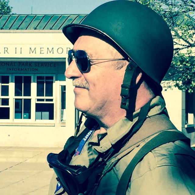 Guard of honour receiving World War II Veterans to Washington DC. © J. Ashley Nixon