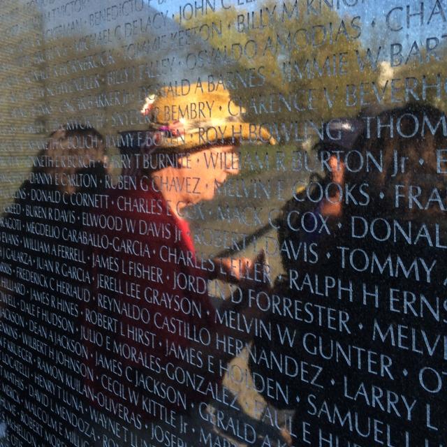Vietnam War Veteran in conversation. © J. Ashley Nixon