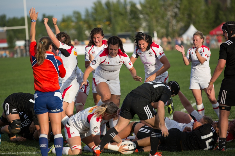 Canada push over try scored by second-row, Tyson Beukeboom © J. Ashley Nixon