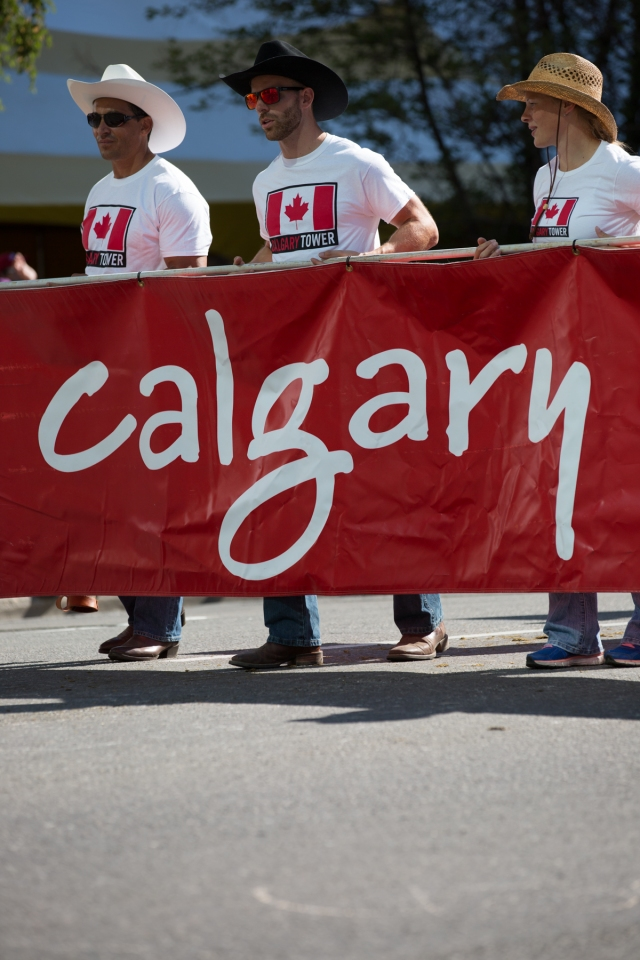 Parade participants from the Calgary Tower © J. Ashley Nixon