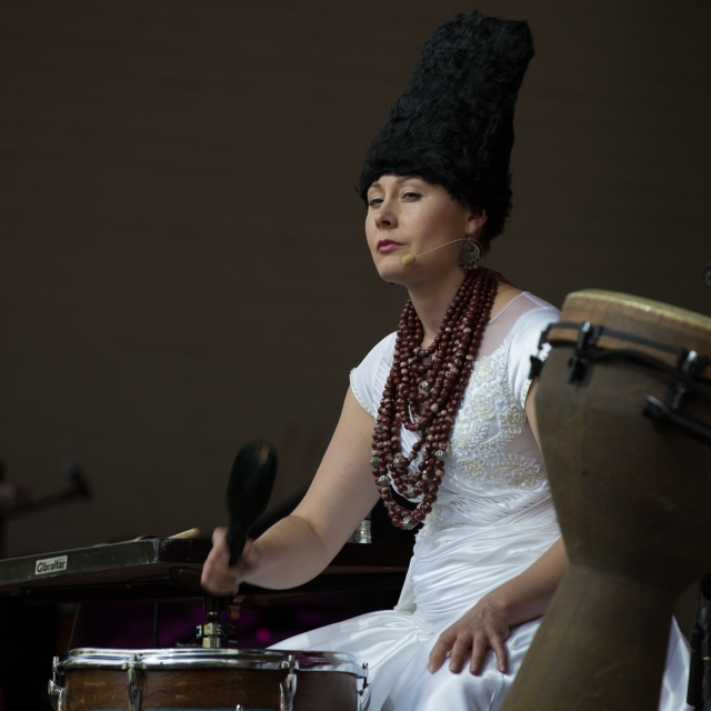 DakhaBrakha at the Calgary Folk Music Festival, July 24, 2015 © J. Ashley Nixon