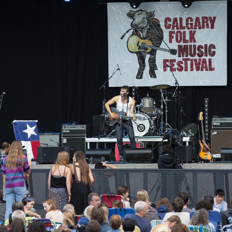 Shakey Graves on the Main Stage, Calgary Folk Music Festival, July 23, 2015 © J. Ashley Nixon