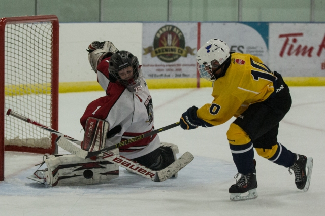 Action from the hockey tournament t The Fenlands Banff Recreation Centre © J. Ashley Nixon