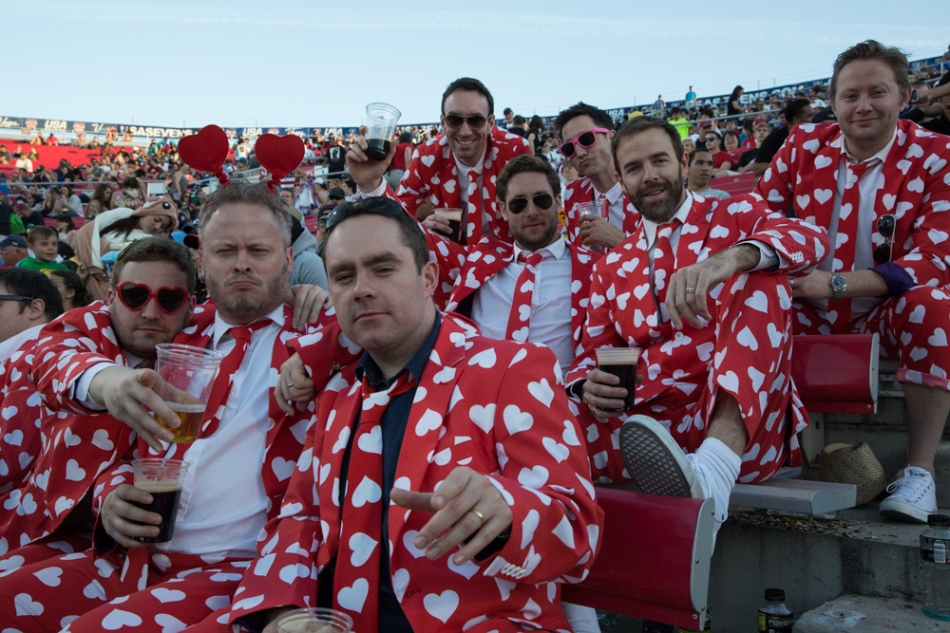 Rugby fans celebrating their sport....and Valentine's Day in Las Vegas. © J. Ashley Nixon
