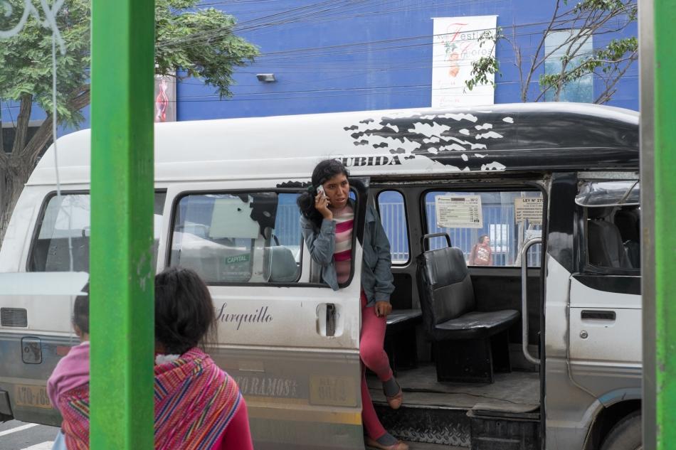 Combi in Avenida Angamos © J. Ashley Nixon