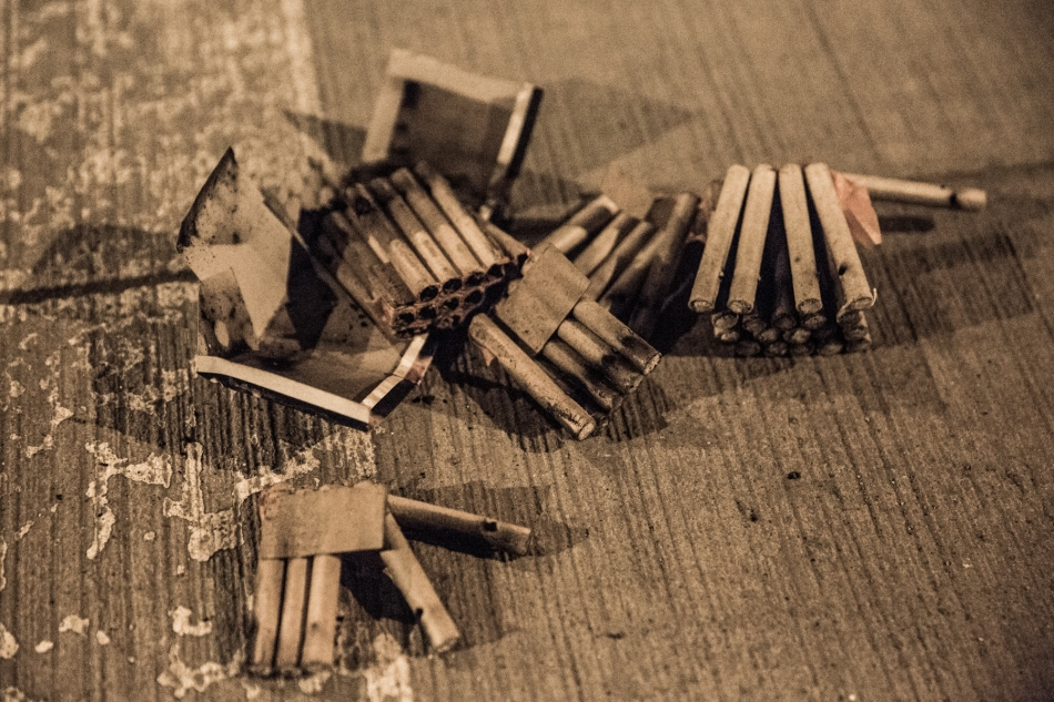 Left overs from exploded coheres (fireworks) © J. Ashley Nixon