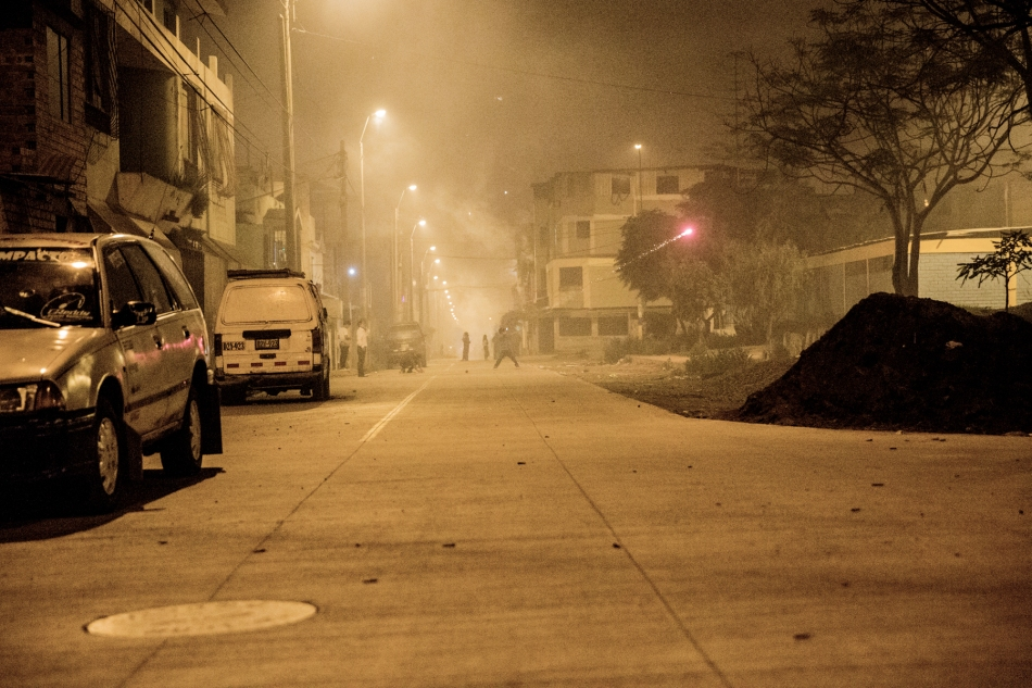 Cohetes (fireworks) in the streets of Lima © J. Ashley Nixon
