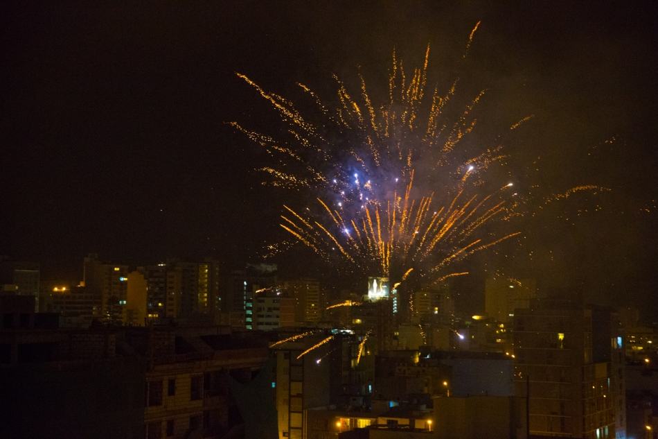 Cohetes (fireworks) over Lima, Peru New Years Day, 2016 © J. Ashley Nixon