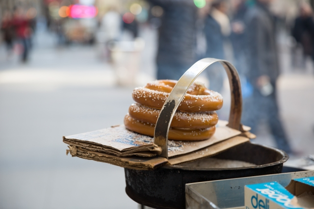 Pretzels on Wall Street, NYC © J. Ashley Nixon