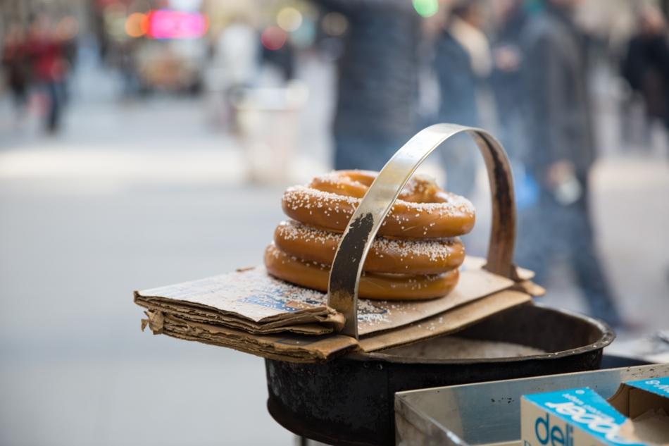 Pretzels on Wall Street, NYC © J. Ashley Nixon