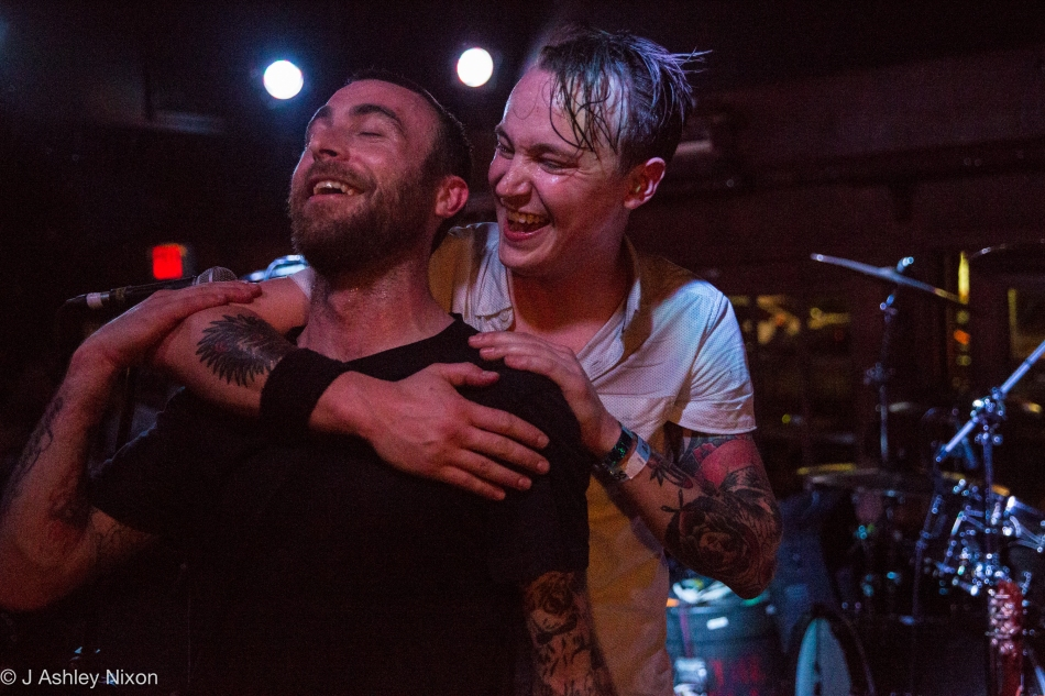 Chris Cresswell and Jon Darbey of The Flatliners at The Ship & Anchor during the 2016 Sled Island Music Festival in Calgary, Alberta, Canada