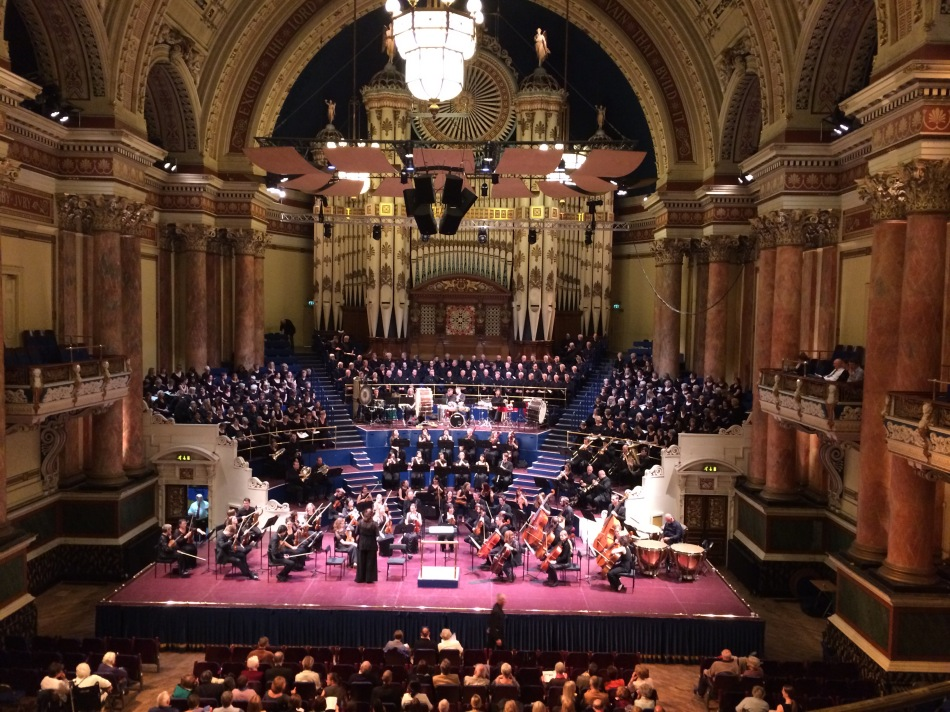 Performance in re cognition of the start of the Battle of the Somme, The Armed Man: A Mass for Peace at Leeds Town Hall, Leeds, Yorkshire, England on June 30, 2016