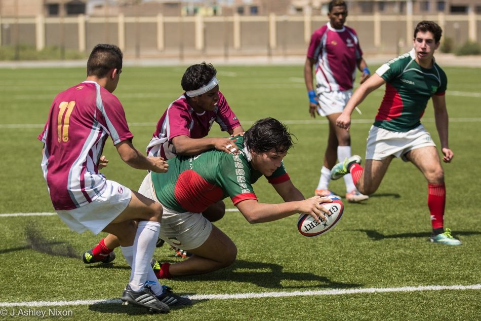 Mexico forward scores against Venezuela in the South America U18 rugby tournament in Chiclayo, Lambayeque, Peru © J. Ashley Nixon