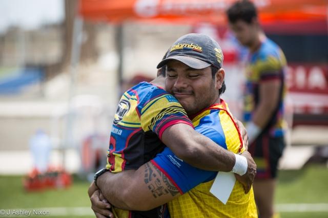 Colombia, campeones del torneo de rugby Sudamericano M18, 2016. Chiclayo, Peru. © J. Ashley Nixon