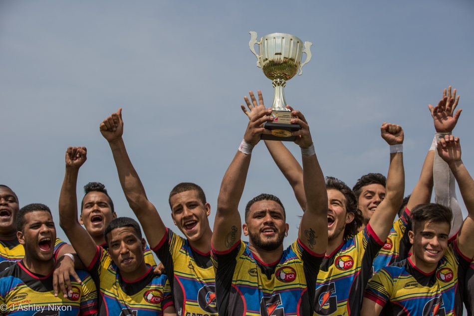 Colombia, champions of the South America U18 rugby tournament, 2016. Chiclayo, Peru. © J. Ashley Nixon