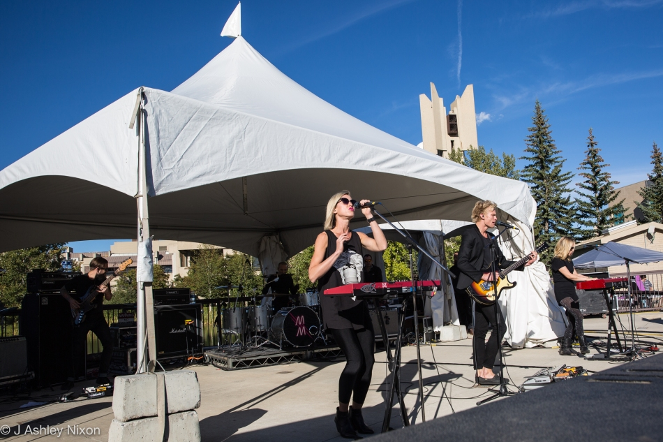 Mother Mother on stage at the Ampitheatre, Mount Royal University, Calgary. © J. Ashley Nixon