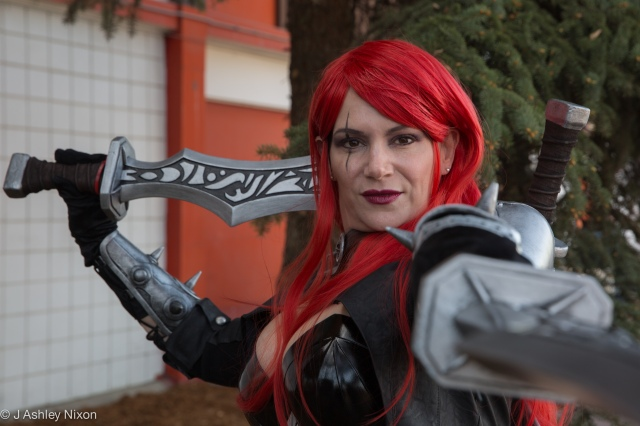 Jeanette aka Katarina, from League of Legends at the Calgary Expo, May 1, 2016 © J. Ashley Nixon
