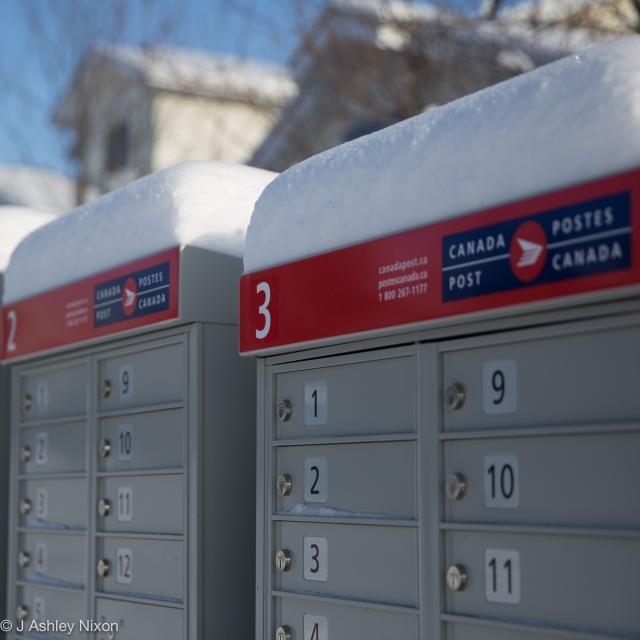 Canada Post in winter © J. Ashley Nixon
