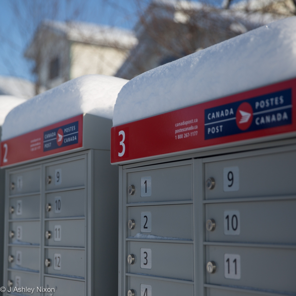 Canada Post in winter © J. Ashley Nixon